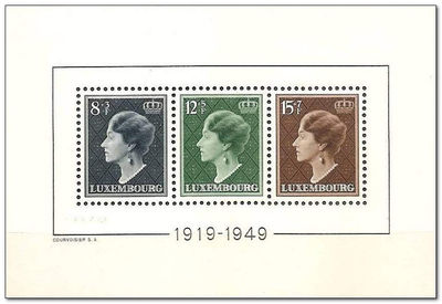 Luxembourg 1949 30 Year Anniversary or Grand Duchess Charlotte's Reign a.jpg