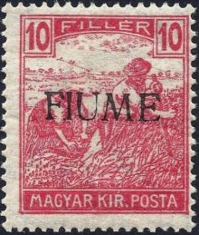 "Fiume 1918 Hungarian Definitives ""Harvesters"" - Overprinted e.jpg"