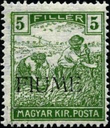 "Fiume 1918 Hungarian Definitives ""Harvesters"" - Overprinted c.jpg"