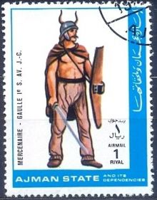 Ajman 1972 Airmail - Military Uniforms 1rR.jpg