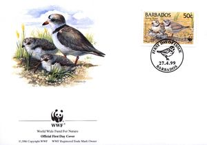 Barbados 1999 Threatened Species Piping Plover WWF 3.jpg