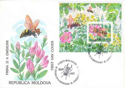 Moldova 1997 Endangered Insects fdc b.jpg