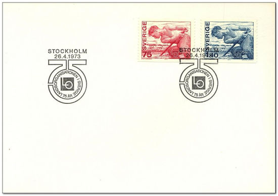 Sweden 1973 Anniversary of Trade Union's Organisation fdc.jpg