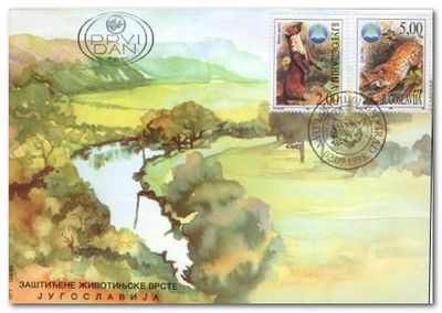 Yugoslavia 1998 Serbian Nature Protection Institute fdc1.jpg