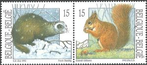 Belgium 1992 Nature - Small Mammals g.jpg
