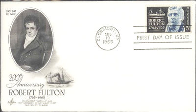 United States of America 1965 Robert Fulton FDC.jpg