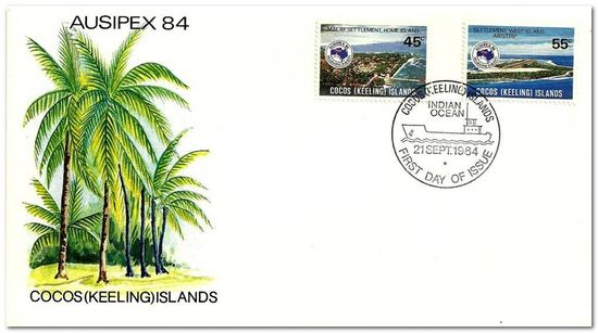 Cocos (Keeling) Islands 1984 Ausipex Stamp Exhibition fdc.jpg