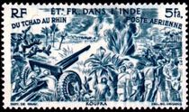 French Indian Settlements 1946 Airmail - From Chad to the Rhine 10f.jpg