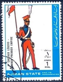 Ajman 1972 Airmail - Military Uniforms 1rL.jpg