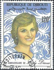 Djibouti 1982 Diana Prices of Wales, 21st Birthday 120f.jpg