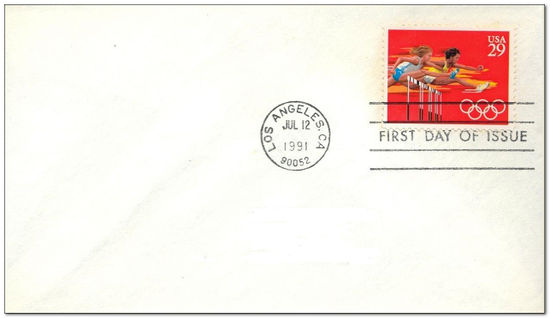 United States of America 1991 Olympics - Barcelona fdc.jpg