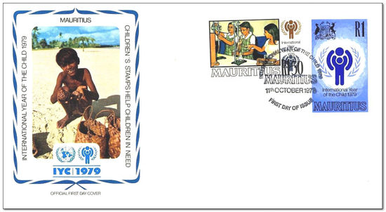 Mauritius 1979 Year of the Child 1fdc.jpg