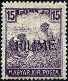 "Fiume 1918 Hungarian Definitives ""Harvesters"" - Overprinted g.jpg"