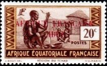 French Equatorial Africa 1940 Definitives - People of Chad Region 20c.jpg