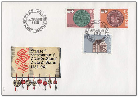 Switzerland 1981 Stans Covenant Anniversary fdc.jpg