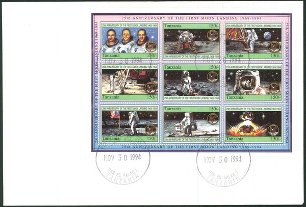 Tanzania 1994 First Manned Moon Landing, 25th Anniversary e.jpg