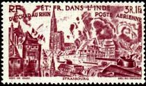 French Indian Settlements 1946 Airmail - From Chad to the Rhine 50f.jpg