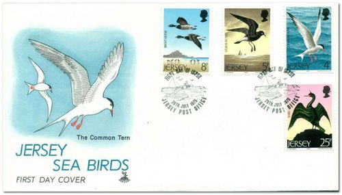 Jersey 1975 Sea Birds 1fdc.jpg