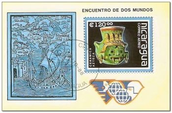 Nicaragua 1988 Discovery of America Anniversary ms.jpg