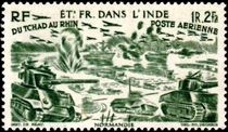 French Indian Settlements 1946 Airmail - From Chad to the Rhine 20f.jpg