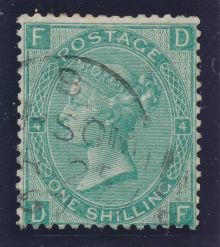 1867 One Shilling Green Plate 4 Large White Corner Letters DF.jpg