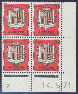 Andorra - French 1961 Definitives - Landscapes 10c .jpg
