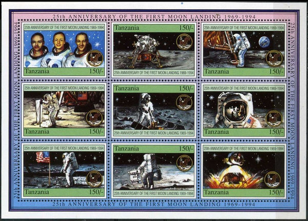 Tanzania 1994 First Manned Moon Landing, 25th Anniversary b.jpg