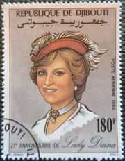 Djibouti 1982 Diana Prices of Wales, 21st Birthday 180f.jpg