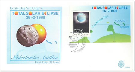 Netherlands Antilles 1998 Total Eclipse of the Sun 1fdc.jpg
