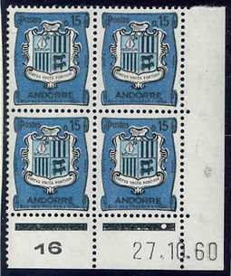 Andorra - French 1961 Definitives - Landscapes 15c .jpg