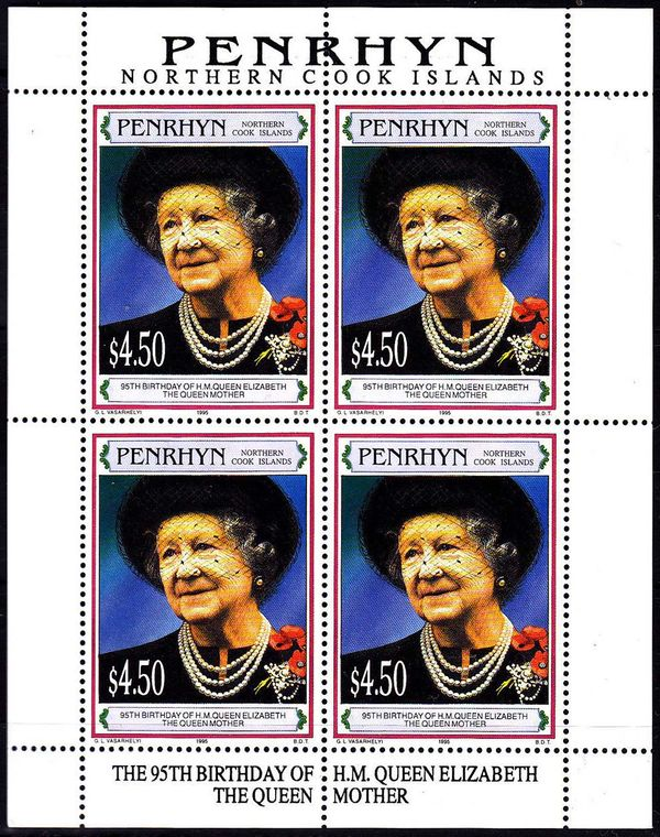 Penrhyn 1995 Queen Mother, 95th Birthday a1.jpg