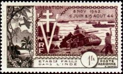 French Indian Settlements 1954 Airmail - D-Day - 10th Anniversary a.jpg