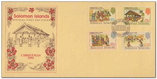 Solomon Islands 1991 Christmas fdc.jpg