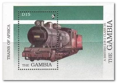 Gambia 1989 Steam Locomotives ms1.jpg