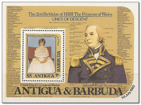 Antigua and Barbuda 1982 21st Birthday of the Princess of Wales ms.jpg