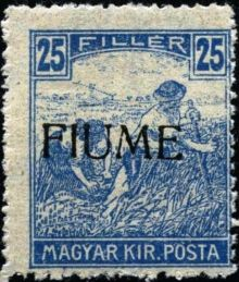 "Fiume 1918 Hungarian Definitives ""Harvesters"" - Overprinted j.jpg"