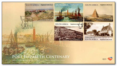 South Africa 2013 Port Elizabeth Centenary fdc.jpg