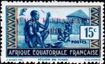 French Equatorial Africa 1940 Definitives - People of Chad Region 15c.jpg