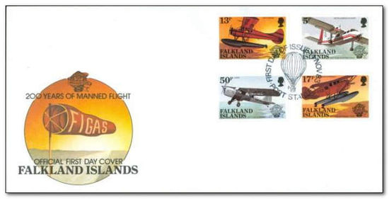 Falkland Islands 1983 Manned Flight Bicentenary fdc.jpg