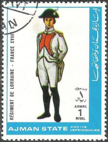 Ajman 1972 Airmail - Military Uniforms 1rI.jpg