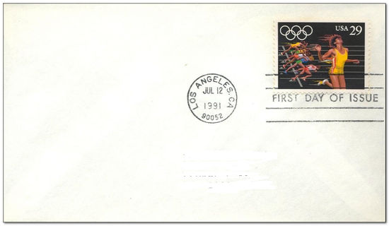 United States of America 1991 Olympics - Barcelona 1fdc.jpg