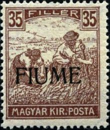 "Fiume 1918 Hungarian Definitives ""Harvesters"" - Overprinted k.jpg"