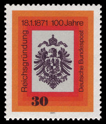 Germany-West 1971 Centenary of German Unification a.jpg