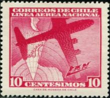 Chile 1960 Airmail - Aircrafts 10c.jpg