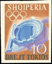 Albania 1964 Summer Olympic Games - Tokyo '64 imperforate 10.jpg