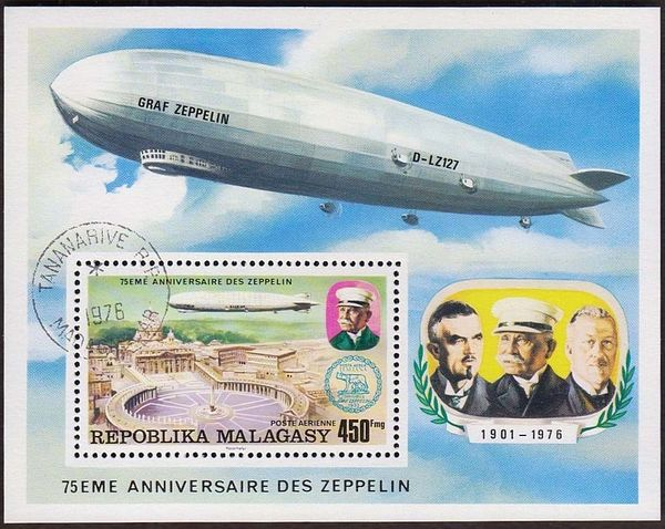 Malagasy Republic 1976 75th anniversary of the Zeppelin g.jpg