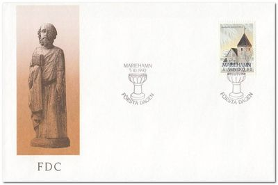 Aland 1992 St Catherines Church fdc.jpg