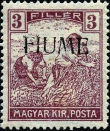 "Fiume 1918 Hungarian Definitives ""Harvesters"" - Overprinted b.jpg"