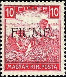 "Fiume 1918 Hungarian Definitives ""Harvesters"" - Overprinted f.jpg"
