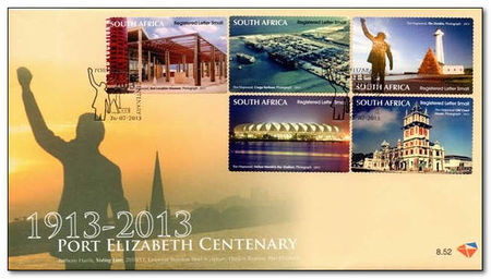 South Africa 2013 Port Elizabeth Centenary 1fdc.jpg